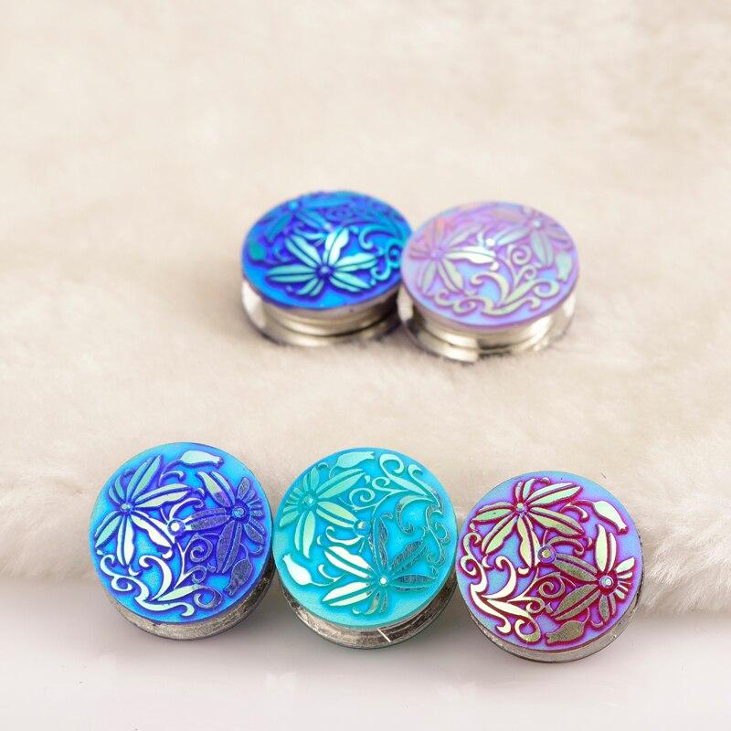 20 à pince broches Bleu Violet Rouge Cuivre Tricot Stitch marqueurs non Snag