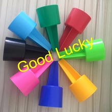 160pcs Lot Free Shipping Plastic Beach Spiker 8 Colors Mixed Drink Cup Holder Monogram Whole