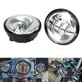 "4.5"" Round Chrome Aluminum Motorcycle Headlight Frontlight  LED Driving Light High Power Cree Chips For Harley Davidson"