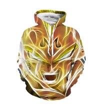 Plus größe S-5XL Neueste Art Anime Dragon Ball Z Super Saiyan Kapuzen Abkühlen Goku Mit Kapuze Frauen Männer Langarm Oberbekleidung