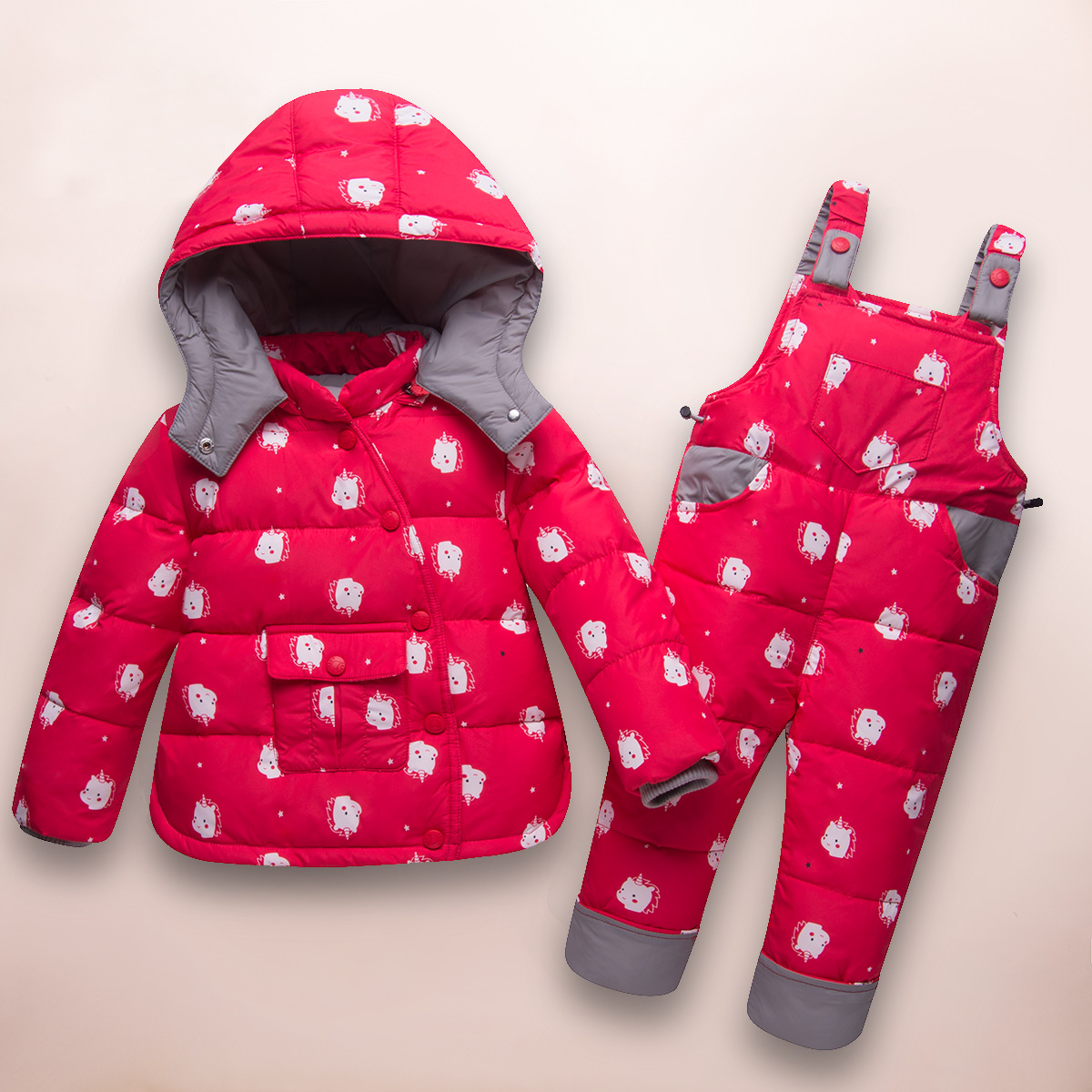 2018 Winter Children's Clothing Sets Russia Baby Girl Ski Suit Sets Boy Outdoor Warm Kids Down Coats Jackets+suspender Trousers 2018 winter children clothing set russia baby girl snow wear boy s outdoor snowsuit kids down coats jackets trousers 30degree
