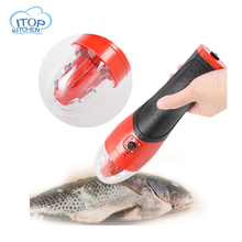 Powerful electric fish scaler skin  scale scraper blade rechargeable lithium battery tools fish scales ac110 220v electric fish skin scaler descaler scale scraper knife fishscale seafood tools