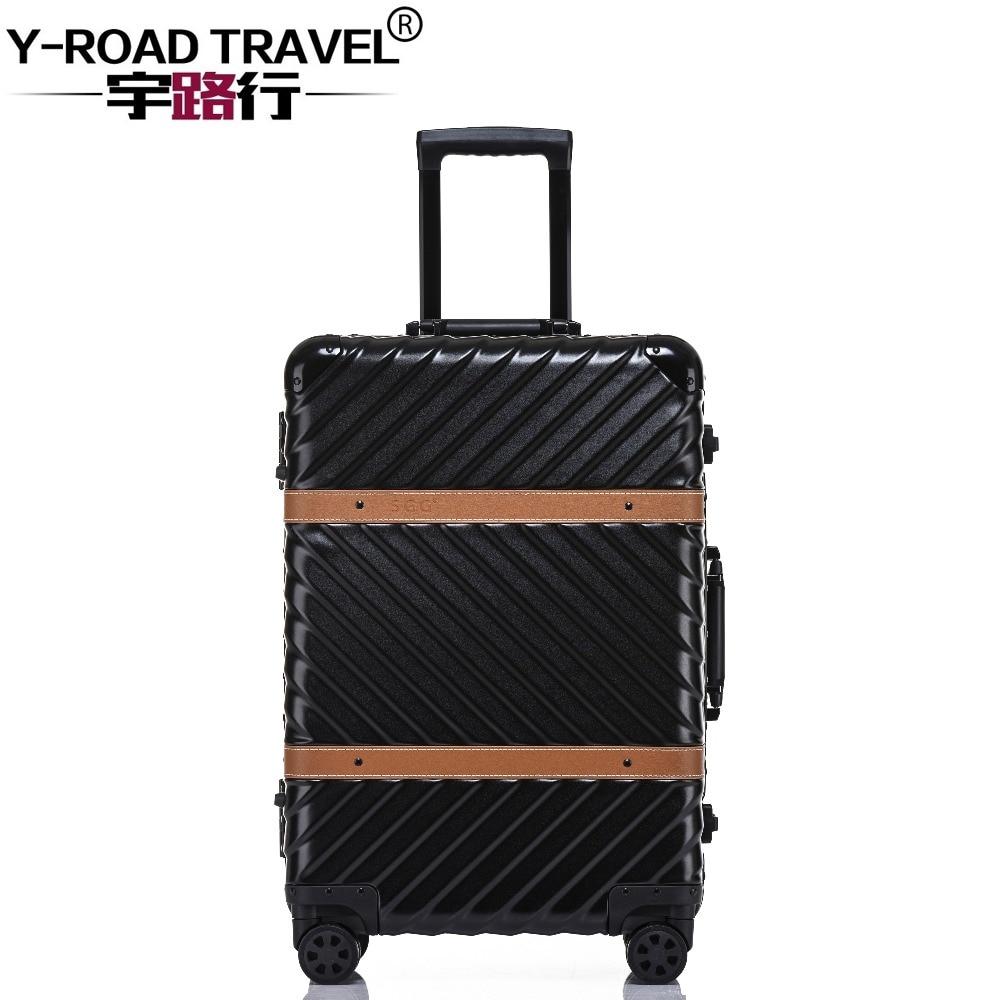 aluminum luggage hardside rolling trolley suitcase 20. Black Bedroom Furniture Sets. Home Design Ideas
