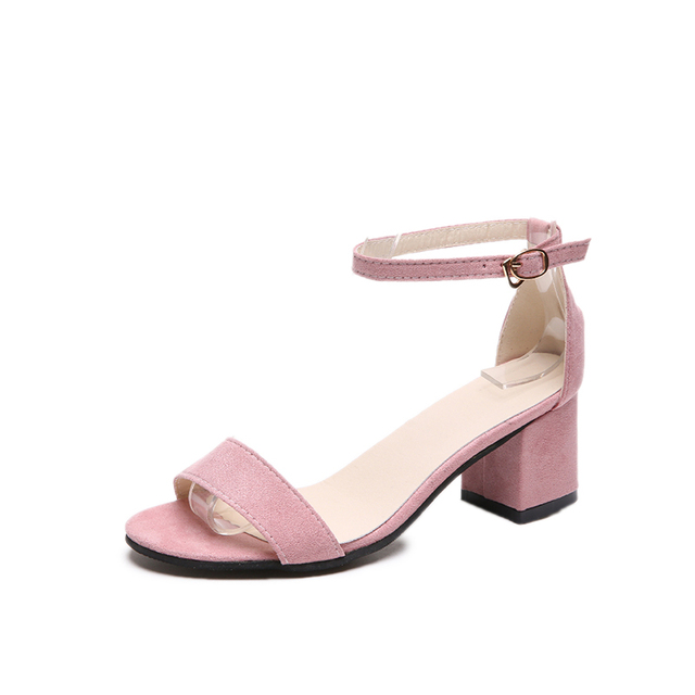 1c698cbadff6e6 Women Sandals Summer Open Toe Women s Sandals Low Block Heel 5cm Women Shoes  Black Blue Gladiator Shoes Ankle Strappy
