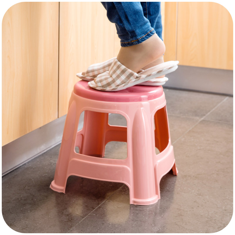 Thick Plastic Small Round Stools Home Adult Children Bathroom Stool