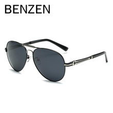 BENZEN Brand Designer Sunglasses Men HD Polarized Pilot Male Sun Glasses UV Driving Glasses  Shades Black With Case 9192