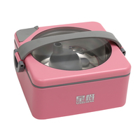 Portable Mini Japanese Bento Box Leak Proof Stainless Steel Thermal Lunch Boxs For Picnic Warm Up