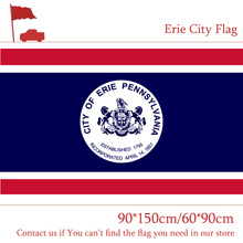 Free shipping 90*150cm 60*90cm US Erie City Flag State of Pennsylvania 3x5ft Custom High-quality 100d Polyester Banners