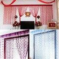 9 Colores 1 m * 2 m Hojas Romántico Verano Estilo Mesh Prevent Mosquito Cortinas de la Ventana para La Decoración Casera