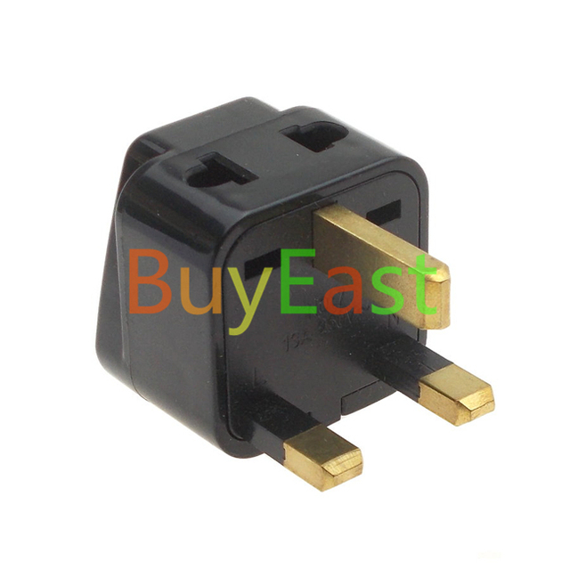 Lot 5 Uk British Travel Adapter Type G 2 Outlet Ac Plug Convert Eu