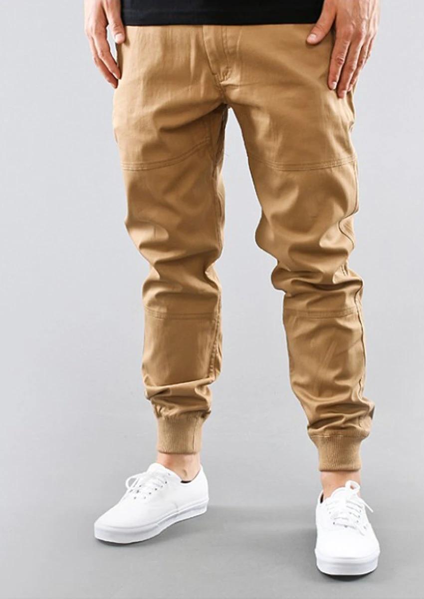 Black Khaki Jogger Pants