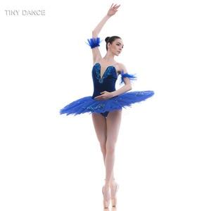 Image 3 - 7 Lagen Van Stijve Tule Royal Blue Klassieke Ballet Dans Kostuum Pannenkoek Tutu Jurk Professionele Ballet Tutu Kostuums BLL027