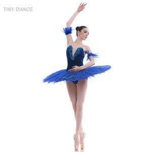 Image 3 - Tulle rigide bleu Royal, 7 couches de Costumes de danse classique, robe Tutu en crêpe, pour le Ballet professionnel BLL027