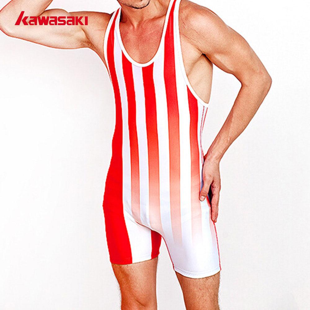 Kawasaki Professional Sexy  Wrestling Cloths Men Custom Suspender Jockstrap Missours Breathable Wrestling Suit Singlet Underwear