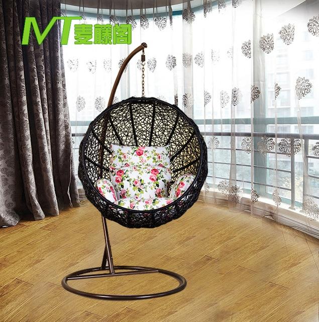 Favorite Nest gondola lifts watermelon circle round wicker chair indoor  MD97
