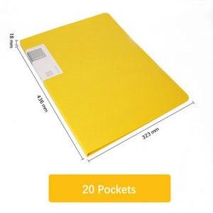 Image 4 - 20/30/40/60 Pockets Booklet A3 Folder PVC Bag Transparent Document Bag For Documents A3 Paper File Organizer
