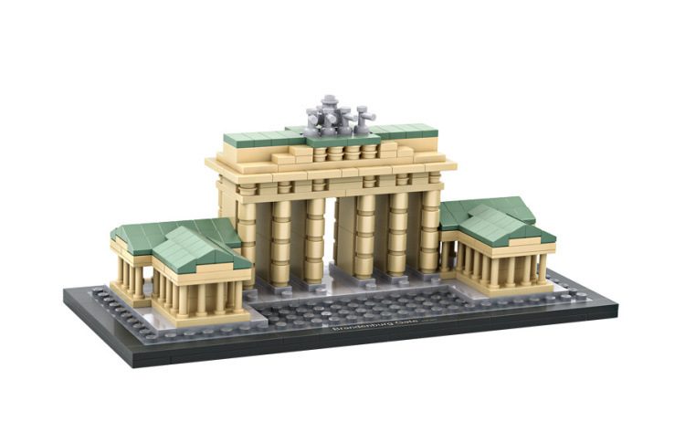 HOT 362Pcs Brandenburg Gate Mini Block World Famous Architecture Series Building Blocks Classic Toys Children