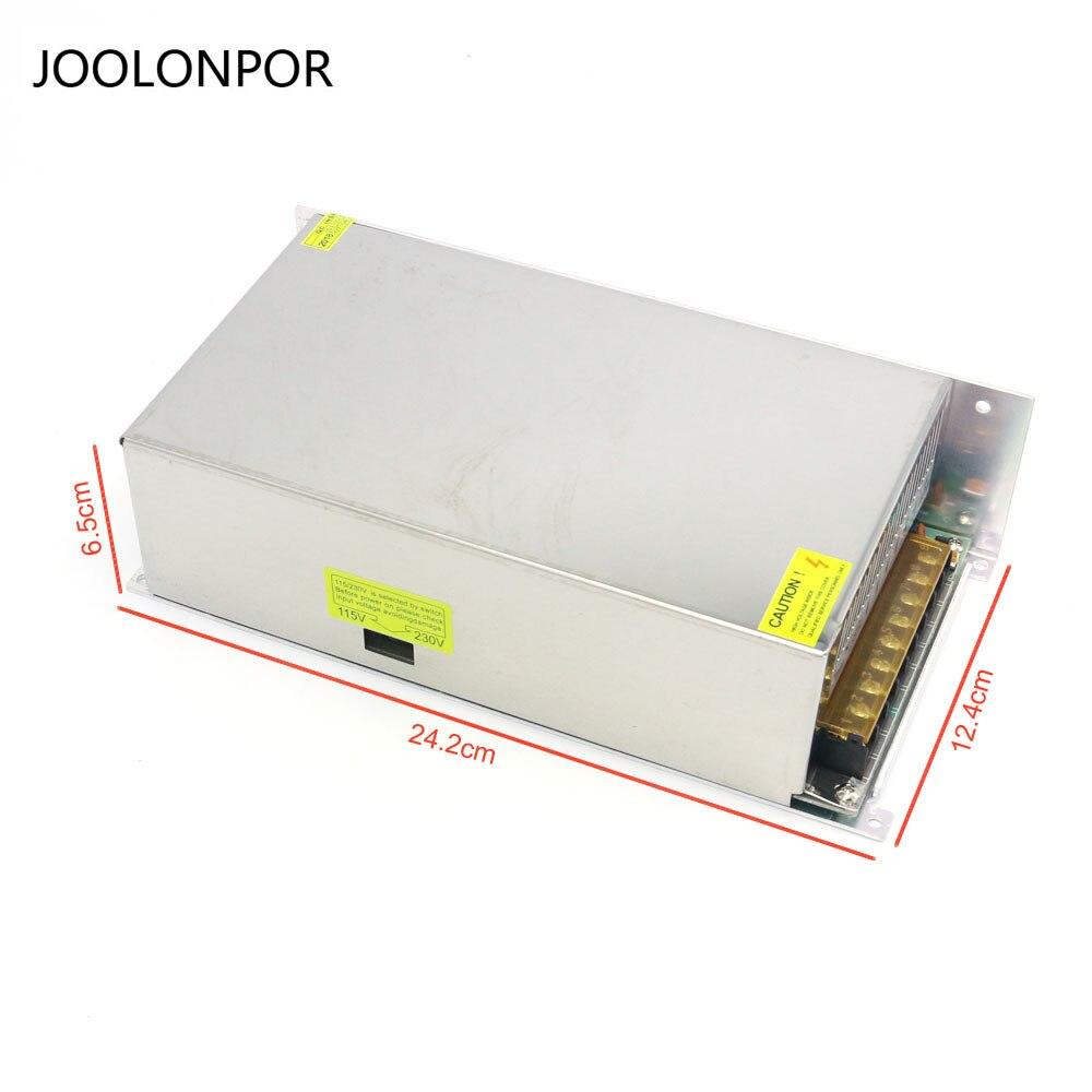 Высокая мощность 12 В постоянного напряжения импульсный источник питания 600 Вт Dc трансформатор свет ленты Драйвер питания