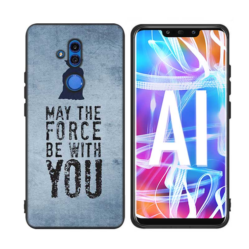 For Huawei Honor Mate 7C 7A 8 8X 9 9N 10 20 Nova 3 3e 3i Pro Lite Black Silicon Phone Case Star Wars Style in Fitted Cases from Cellphones Telecommunications
