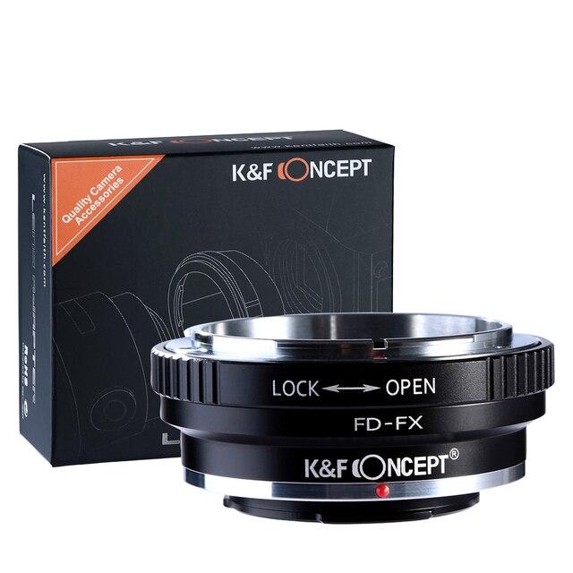 K & F Concepto FD-FX Lente Adaptador para Canon FD Montaje de la Lente para Fujifilm FX Mount X-Pro1 X-A1 X-M1 X-E1 Cuerpo Cámaras Envío gratis