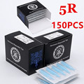 Disposable Tattoo Tips 150pcs 5RT  Sterile Assorted Blue Plastic Nozzles Tube Round For Tatoo Body Art Supply