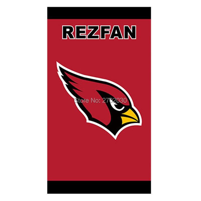 REZFAN Red Arizona Cardinals Super Bowl Champions Fan World Series Football Team 3ft X 5ft Arizona Cardinals Banner Flag