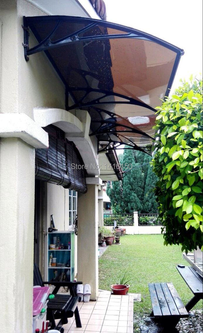 US $310 0  DS100300 P,100x300CM,DEPTH 39 37'',WIDTH 118 11'',House Front  Door/Window Use Polycarbonate Awning,Plastic Awning-in Awnings from Home &