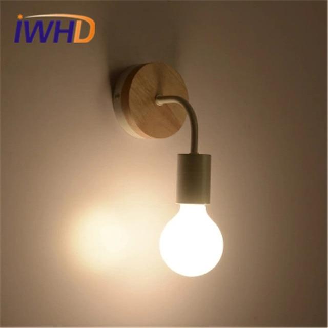 Lampe De Mur Led Moderne Moderne Luminaire Mural En Bois Créatif