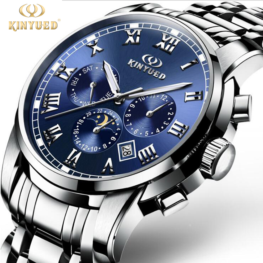 Mens Watches Top Brand Luxury KINYUED 2017 Men Business Watch Sport Automatic Mechanical Full steel Wristwatch relogio masculino fashion italy design italian matching shoe and bag set african wedding shoe and bag sets women shoe and bag to match tmm1 41