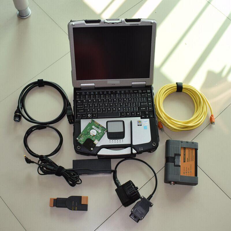 2018 pour bmw icom a2 b c avec un ordinateur portable cf30 logiciel 500 gb hdd ista mode expert outil de diagnostic pour bmw obd câble prêt à utiliser