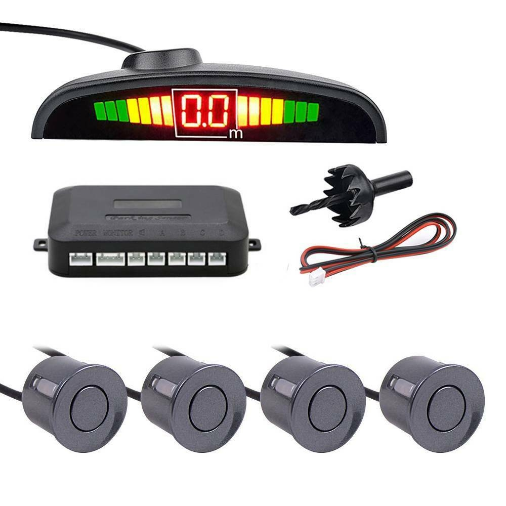 Reversing Radar 12V With 4 Parking Sensors Ultrasonic Radar Detection Standby Radar Monitoring System Reversing Accessories in Parking Sensors from Automobiles Motorcycles