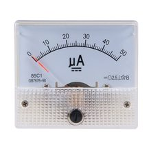 Pointer DC micro ammeter DC 0-100uA 50uA 200uA 500uA Analog Panel AMP Current Meter Ammeter Gauge Amperemeter 85C1(China)