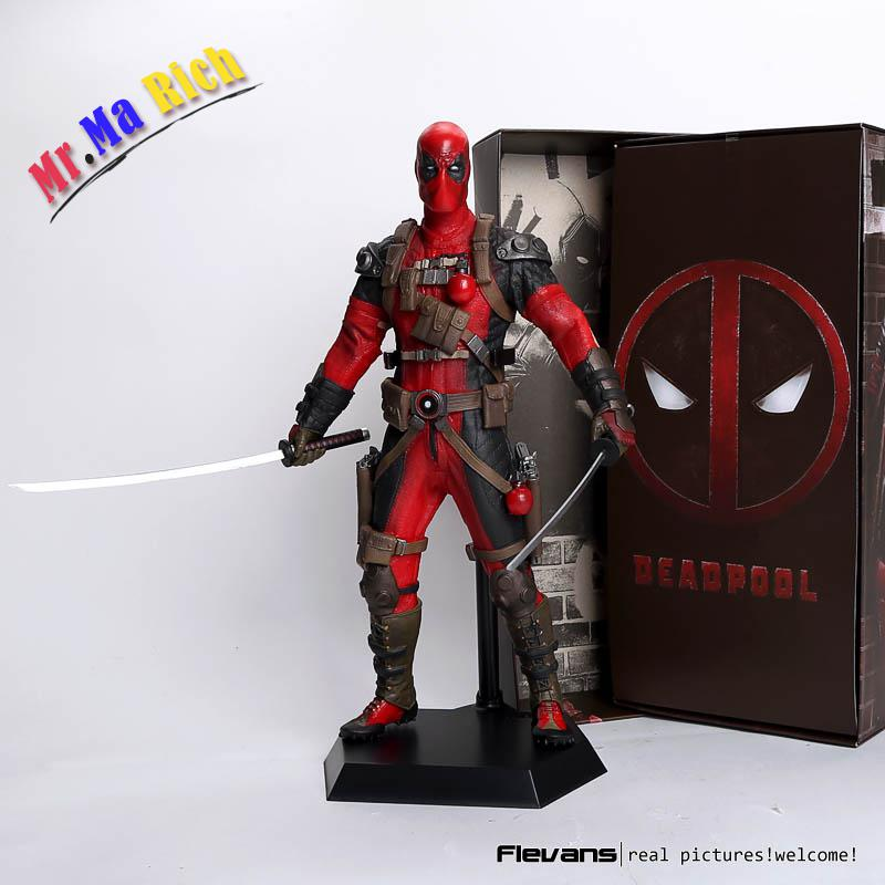 Crazy Toys Deadpool Pvc Action Figure Collectible Model Toy 12 30cm Red / Sliver Hrfg516 marvel deadpool with weapons pvc action figure collectible model toy 7 18cm