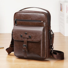 New Style Fashion Mens PU Leather Messenger Bags Briefcase Handbags Cross Body Casual Flap Shoulder Bag