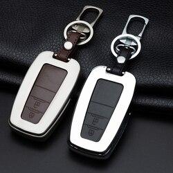 Samochód galwanizowany stop klucz osłona z uchwytem przypadku portfel dla Toyota CHR C-HR Prado Camry Prius Corolla RAV4 Avalon 2019 kluczowe akcesoria