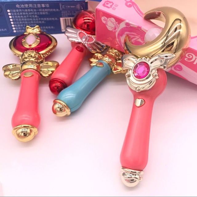 Sailor Moon Stick Spiral Heart Wand Toy