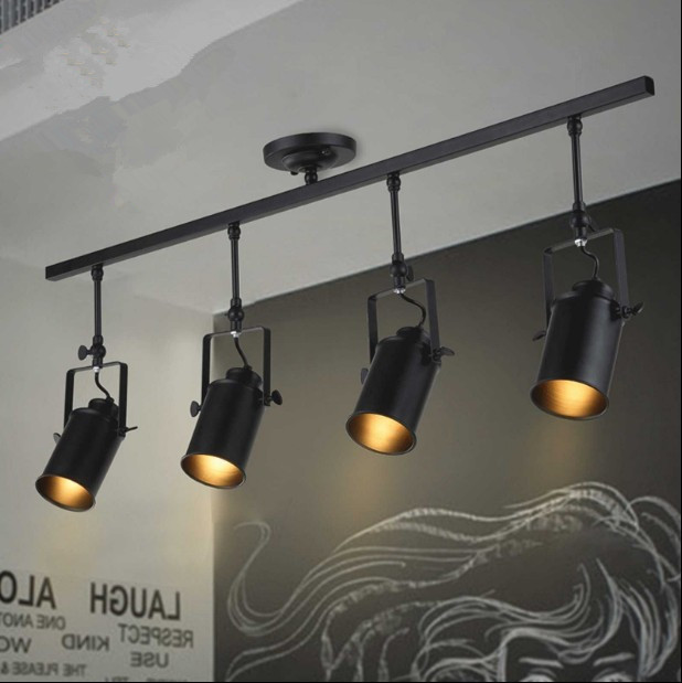 Arts Lamp Track Light Retro Space Modern Minimalist American Industrial Bar Clothing Store Spotlights Ceiling Background Lamp
