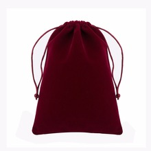 """Velvet Bag 16x23cm/6.2""""x9"""" Christmas Birthday Party Wedding Gift Bags for Jewelry Packaging Pouch Cotton Bag Makeup Organizer"""