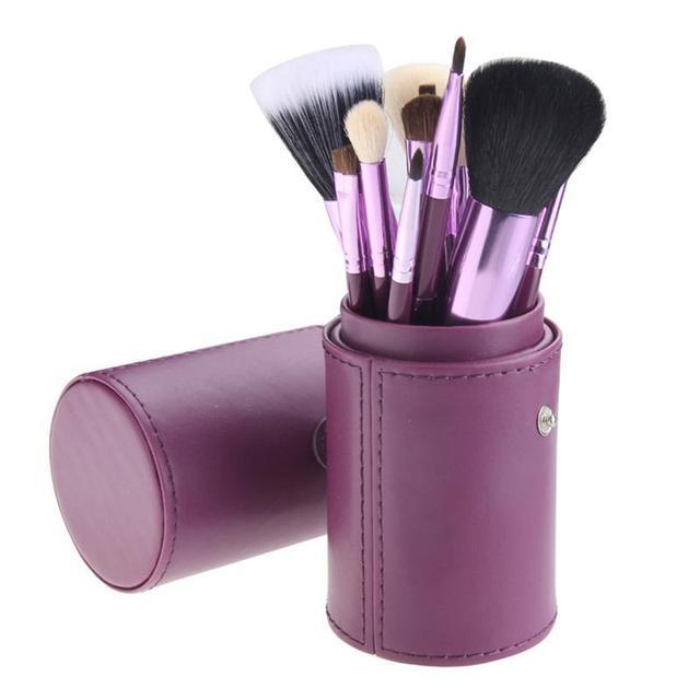 12 pcs rosto misturando escova pincéis de maquiagem conjunto de cosméticos make up tools com titular kit maquillage pincel de base profissional bl333