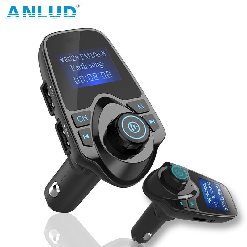 Juhtmevaba Bluetooth-autokomplekt Vabakäeseade FM-saatja - Autode Elektroonika - Foto 1
