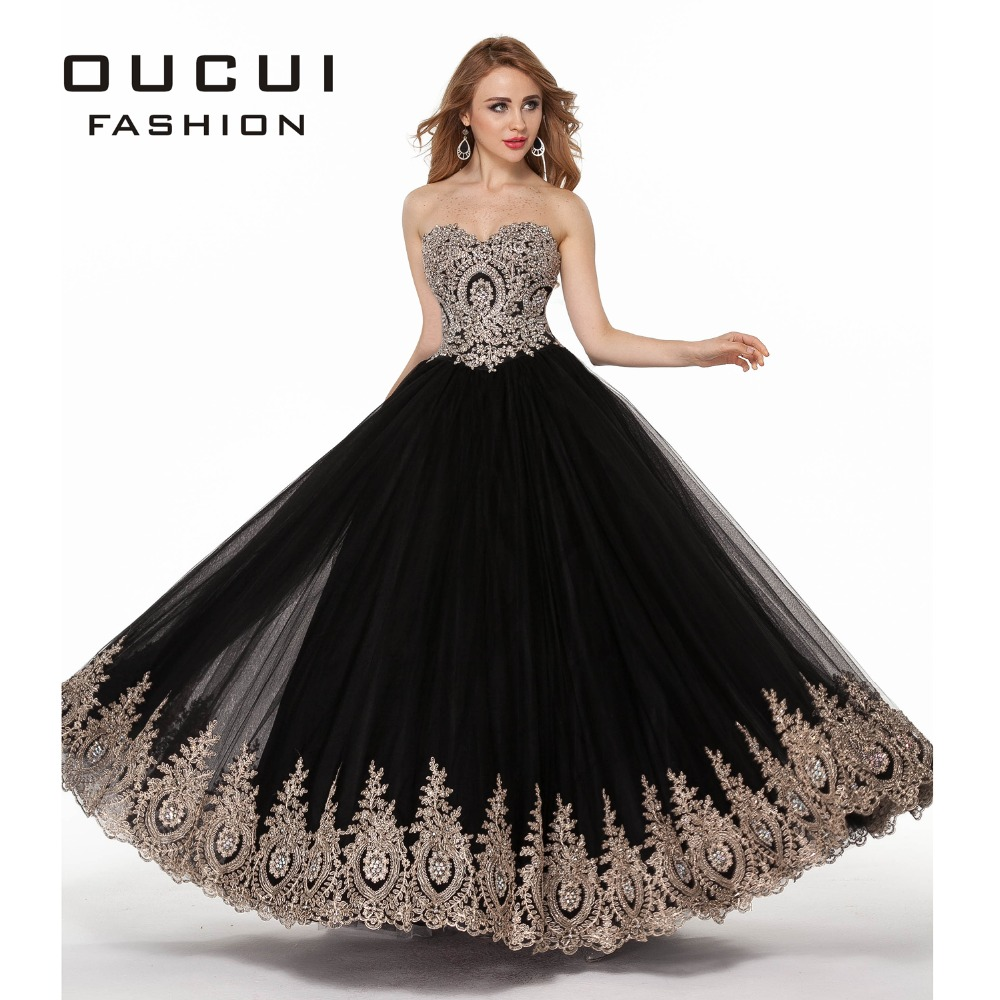 Real Photos Big Round Skirt A-Line Long Lace Evening Dress OL102795 Prom Dress robe de soiree