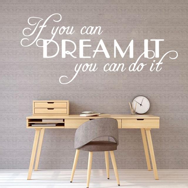 Inspiring Art Sentence Quote Wall Sticker