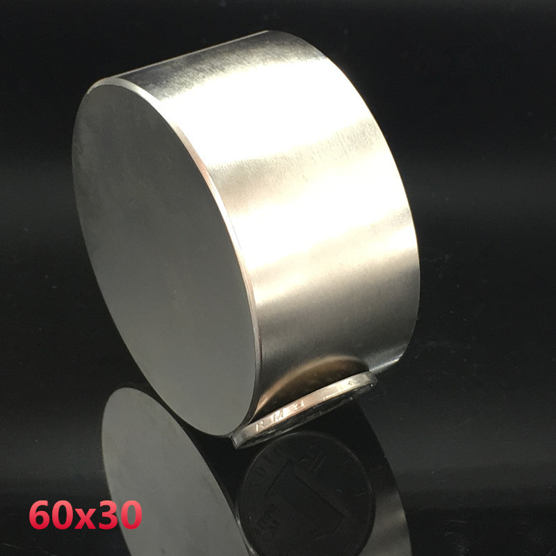 Neodymium magnet 60x30 rare earth super strong powerful round welding search permanent magnetic 60*30 mm gallium metal disc