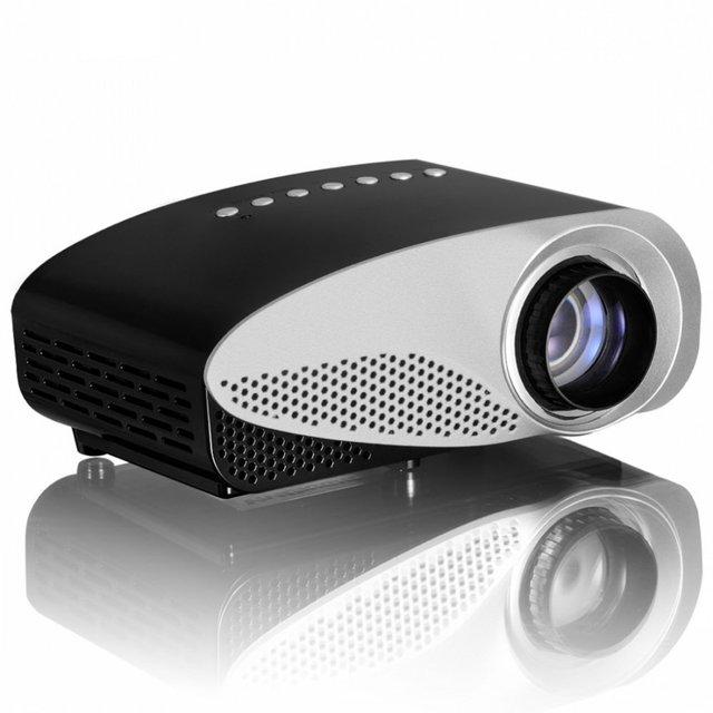 Más pequeño LED Digital LCD de Videojuegos Pico Micro Altavoz Portátil Pequeño Mini Proyector HDMI USB VGA AV Sintonizador de TV