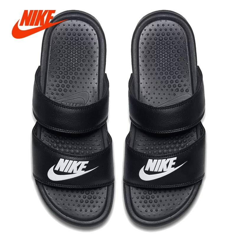 D'origine NIKE BENASSI ULTRA Femmes Chaussures Sandales Pantoufles Ninjia Bandage Style D'été Plage Appartements Sandales Casual Chaussures