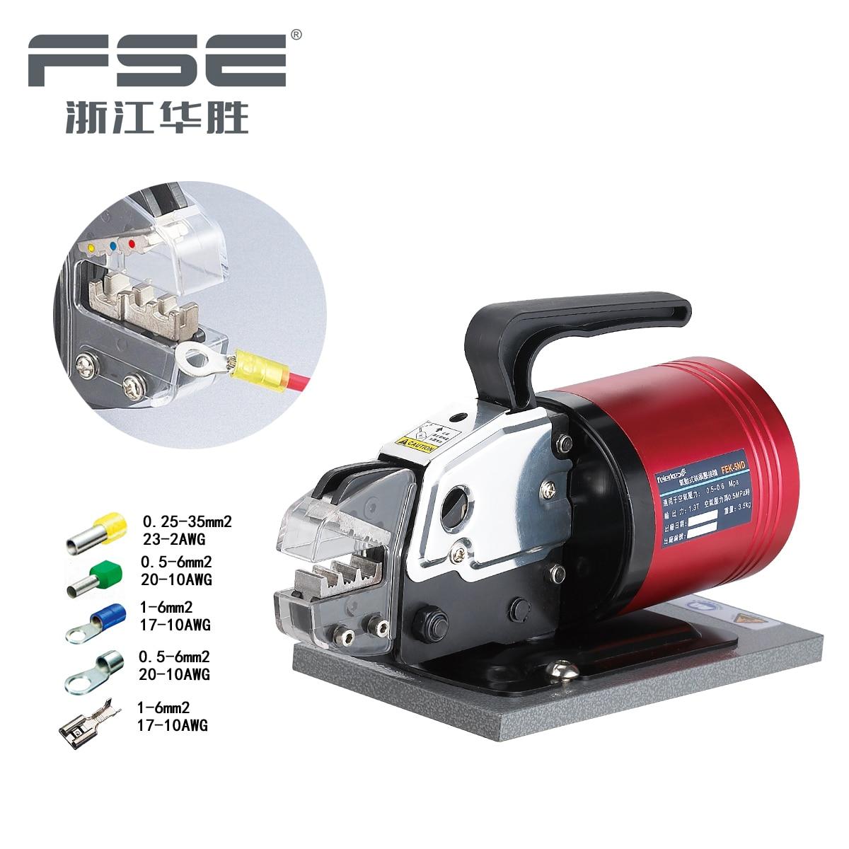 FSE FEK 5ND Pneumatic Type Terminal Crimping Machine Pneumatics Air Tools Crimp Variety Of Terminals ferramentas