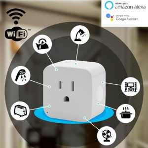 Image 4 - 2pcs pack WiFi Smart Socket US EU Plug WiFi Version Wireless Remote control Socket Adaptor Power on off with phone Alexa google