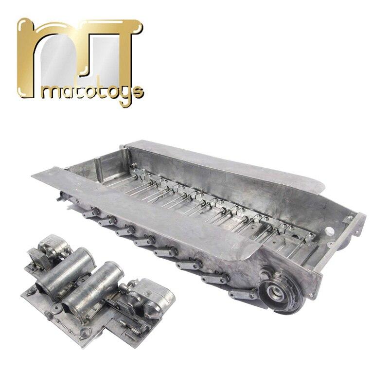 Mato 1/16 Tiger I RC réservoir châssis en métal avec barre de Torsion Suspensions piste tendeur panneau arrière pour Heng Long 3818 Tiger 1 réservoir