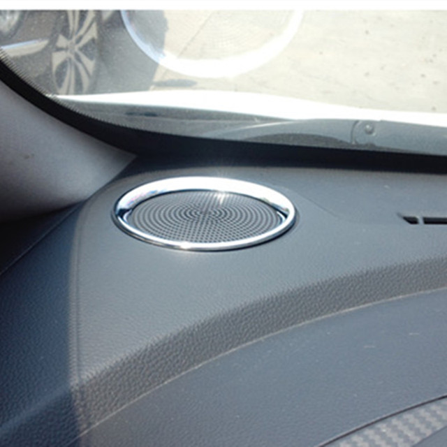 ABS Chrome Car High Position speaker Sound Decoration Ring For KIA K3 Car Styling Accessories 2 pcs per set