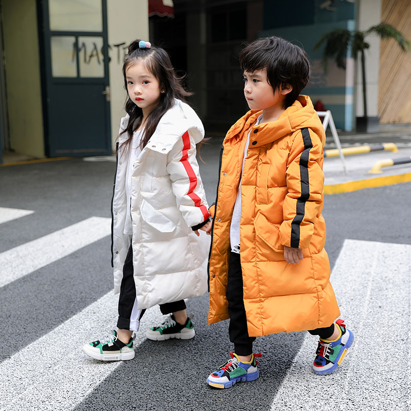 YH-1810 fashion Winter Girl Medium Long Children Duck Down Jacket Thick Coat  Keep Warm Hooded Teenage kids parka Boy OuterwearYH-1810 fashion Winter Girl Medium Long Children Duck Down Jacket Thick Coat  Keep Warm Hooded Teenage kids parka Boy Outerwear